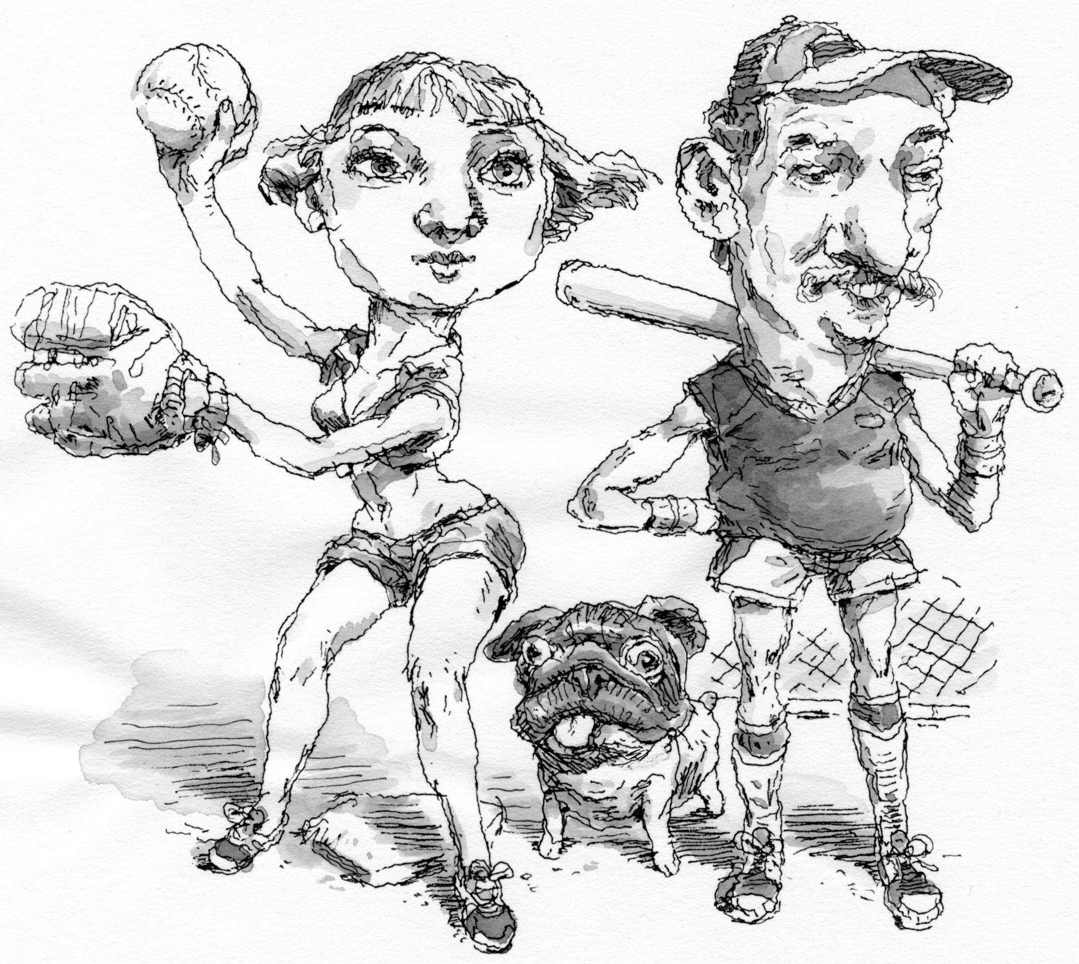 Drawing by John Cuneo