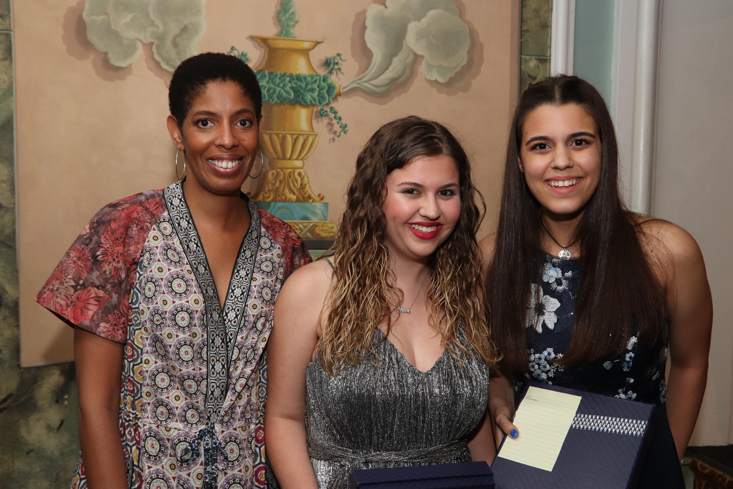 DLDF Board member Lydia Diamond and 2018 Defener award winners Sawyer Garrity and Andrea Peña