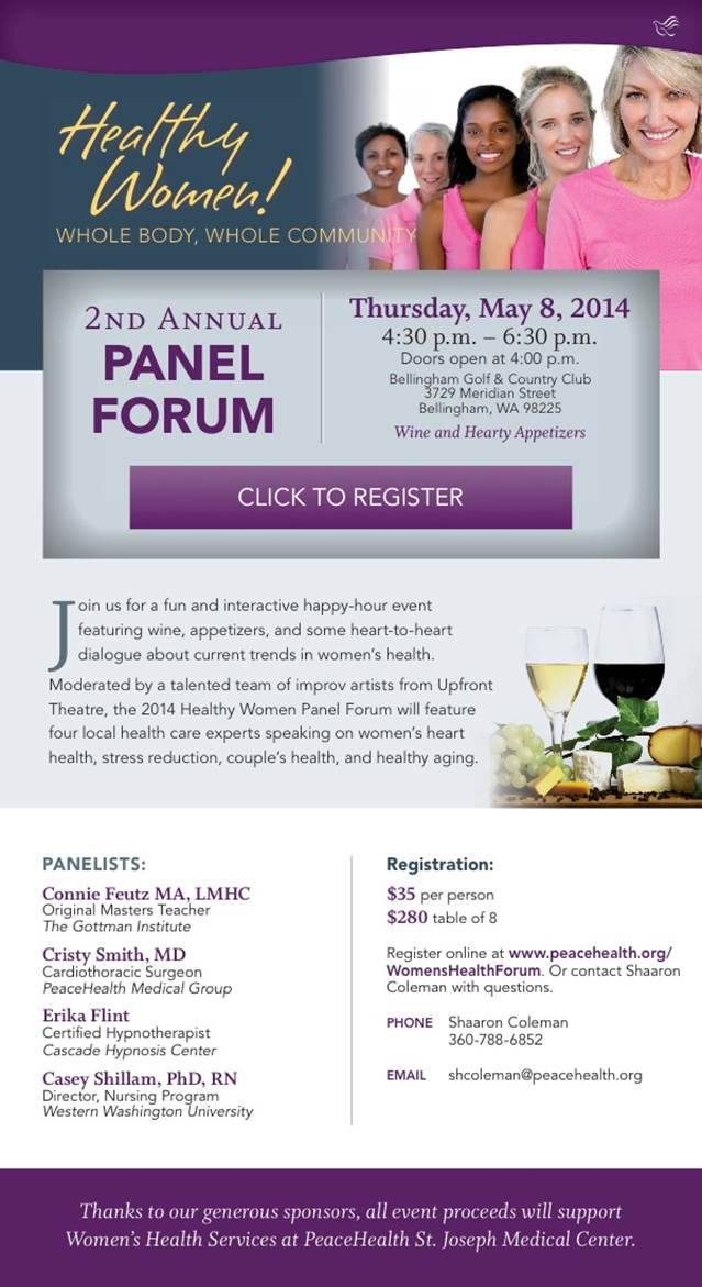 The 2nd Annual Women's Health Forum is on May 8th