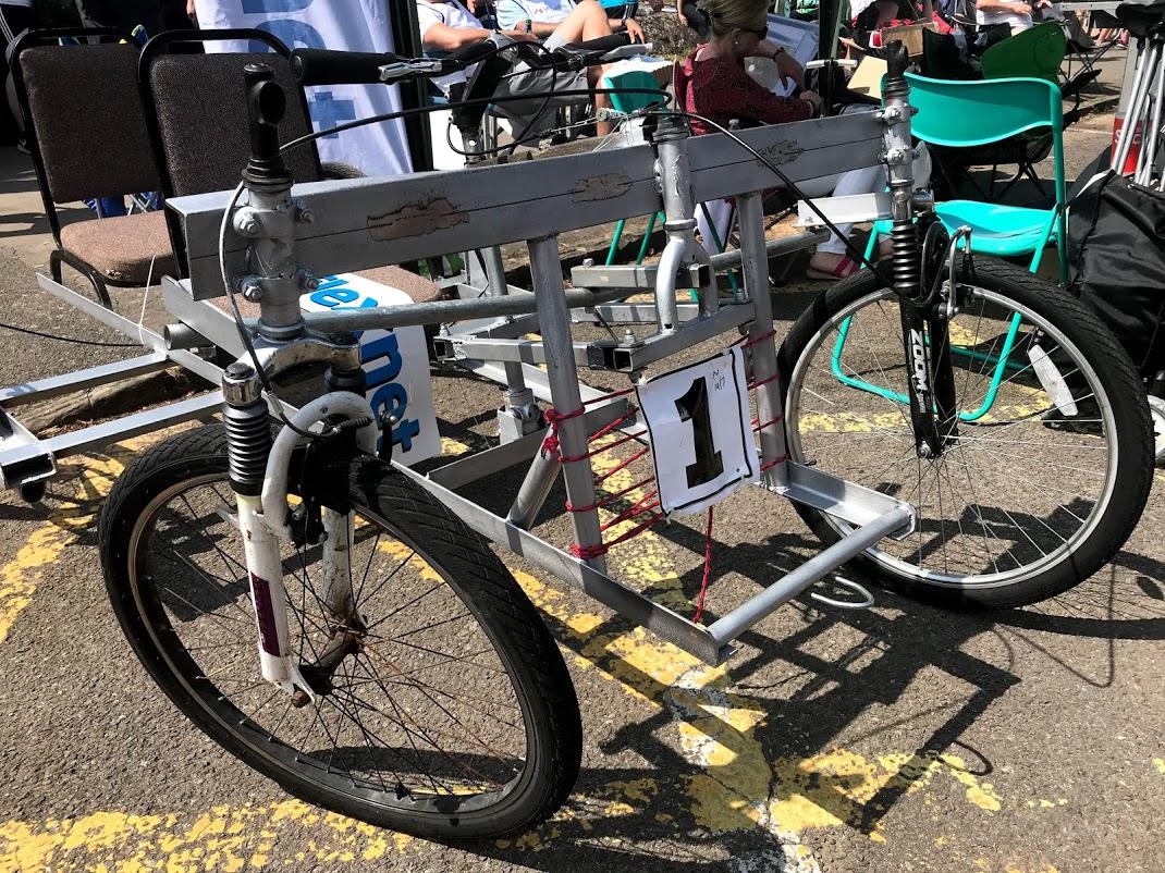 Steel crossbar twisted beyond repair