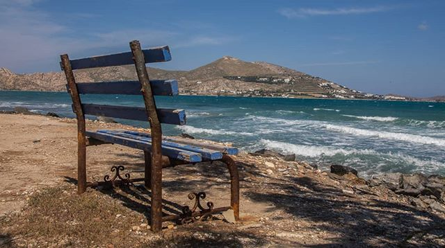 The stunning contrast in colors on the island of Paros. . . . . . . . . . . . . . . . . . . . . . . . #travel #traveltheworld #travelgreece #greece #islandlife #greekislands #backpacking #beachfront #traveleurope #travelphotography #travelphoto #instatravel #travelstagram #landscapephotography #canon6d  #theglobeisbeautiful #travelblog #instagreece #canonphotography #goldenhour #travelgreece #backpackingeurope #backpackeurope #bencheveryday #natgeoyourshot #naoussas #paros  #parosisland