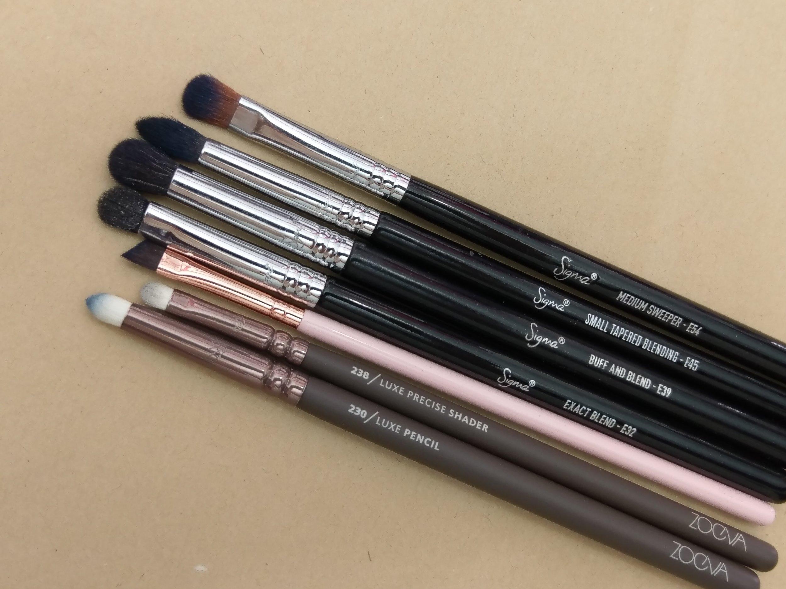 筆刷  Sigma Beauty 、 ZOEVA 、 ColourPop