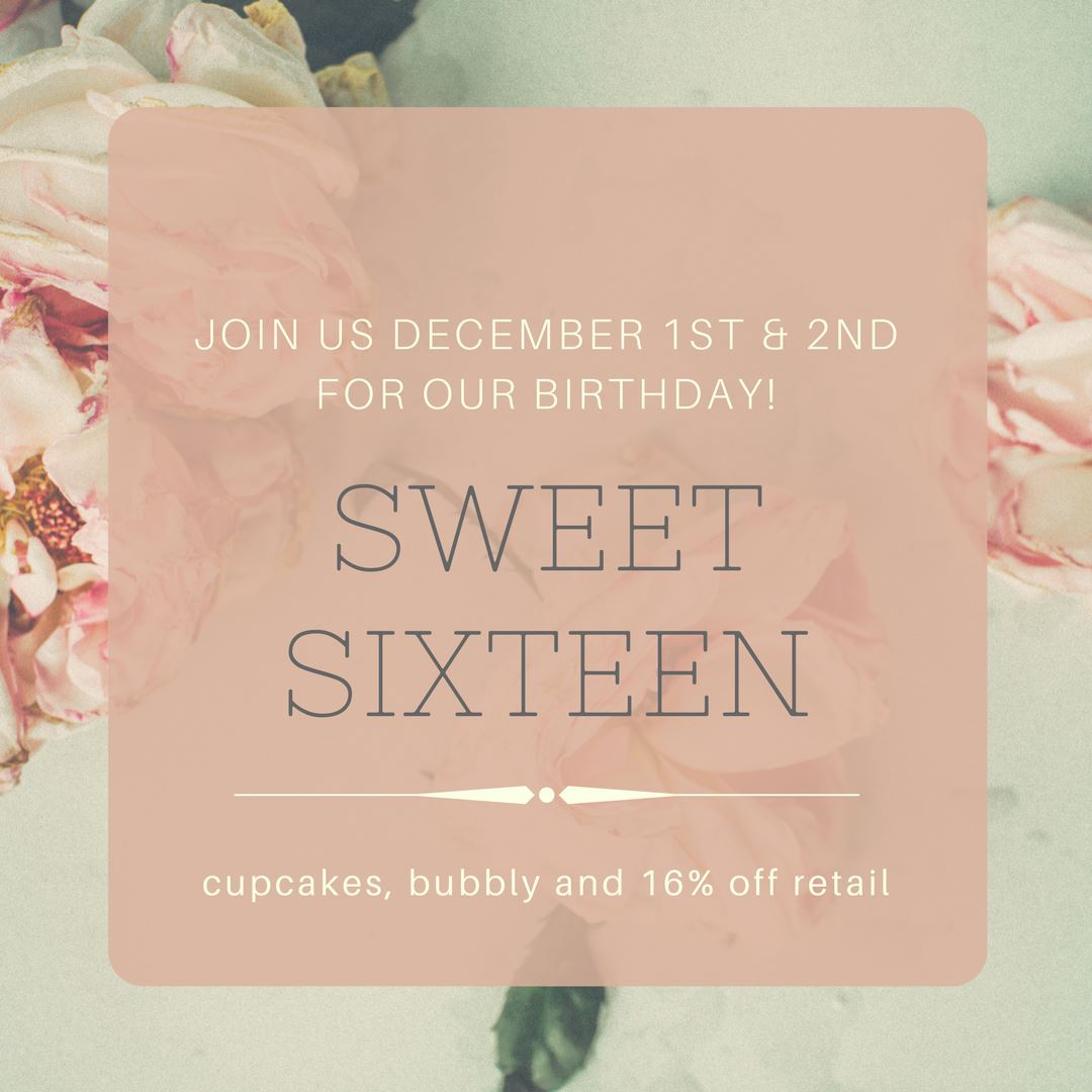 Intemperance Hair Salon Sweet Sixteen Birthday Announcement