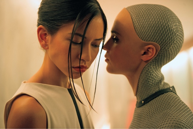 still from movie 'Ex Machina' - media portrayal of submissive East Asian female  image source:https://goo.gl/c2oV5r