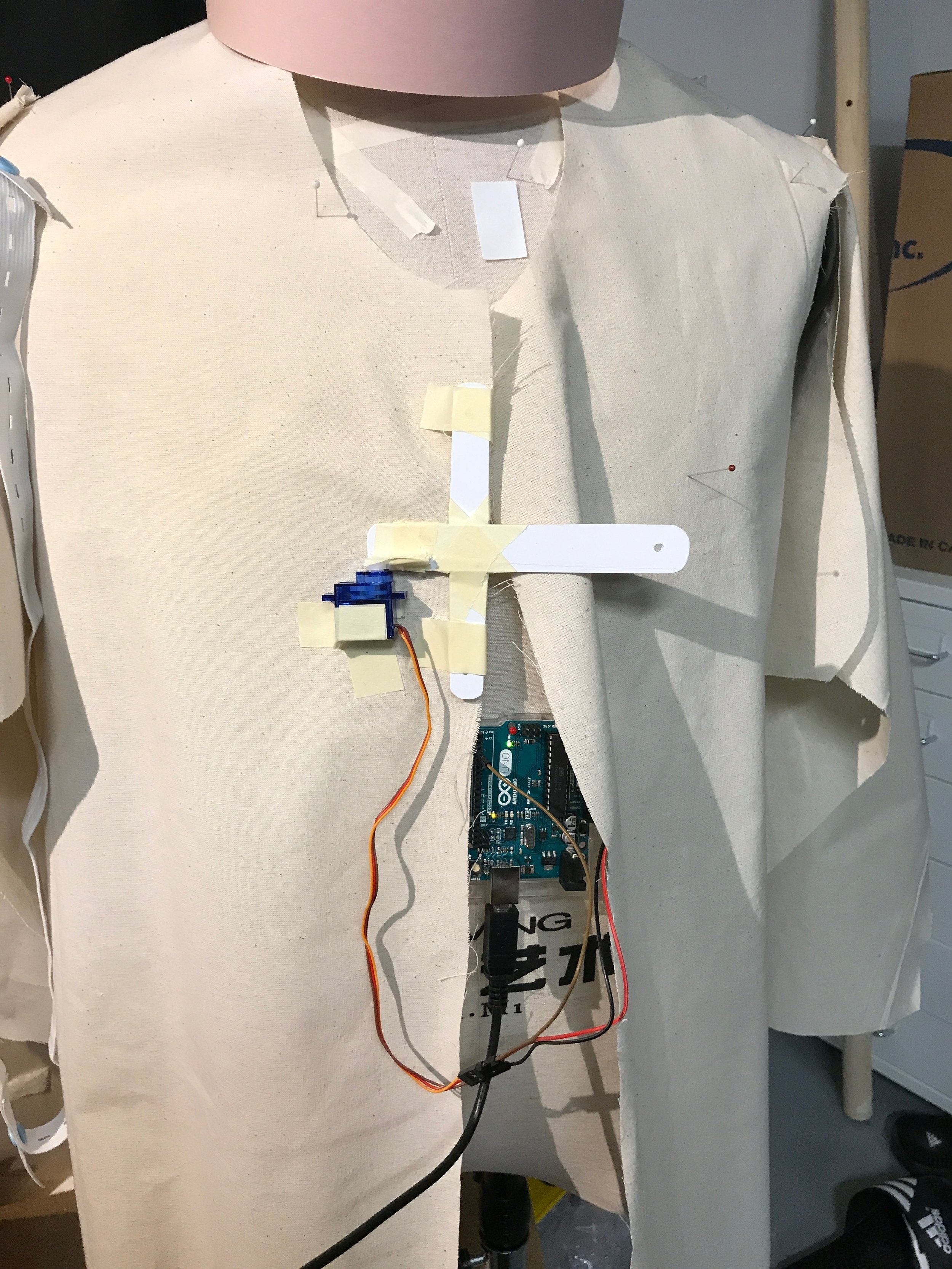 lapel mechanism prototypes were tested for optimal opening angle and speed