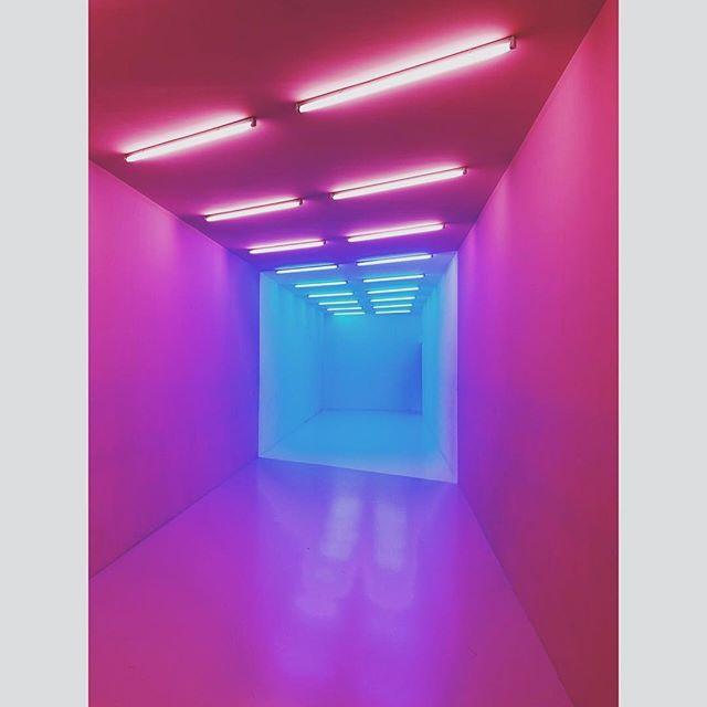 Maurizio Gattelan - The Artist Is Present - Pink Blue by Kapwani Kiwanga #neon #light #colour #hallucination #😎 #shanghai #theartistispresent❤️gucci
