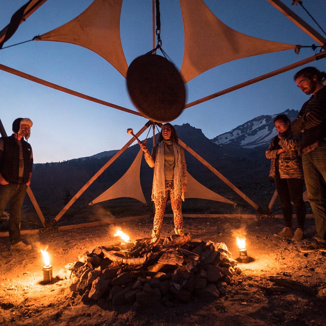 sound gong meditation, mount shasta