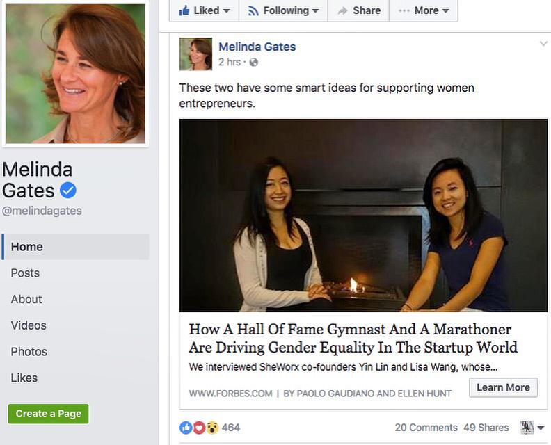 Praise from Melinda Gates