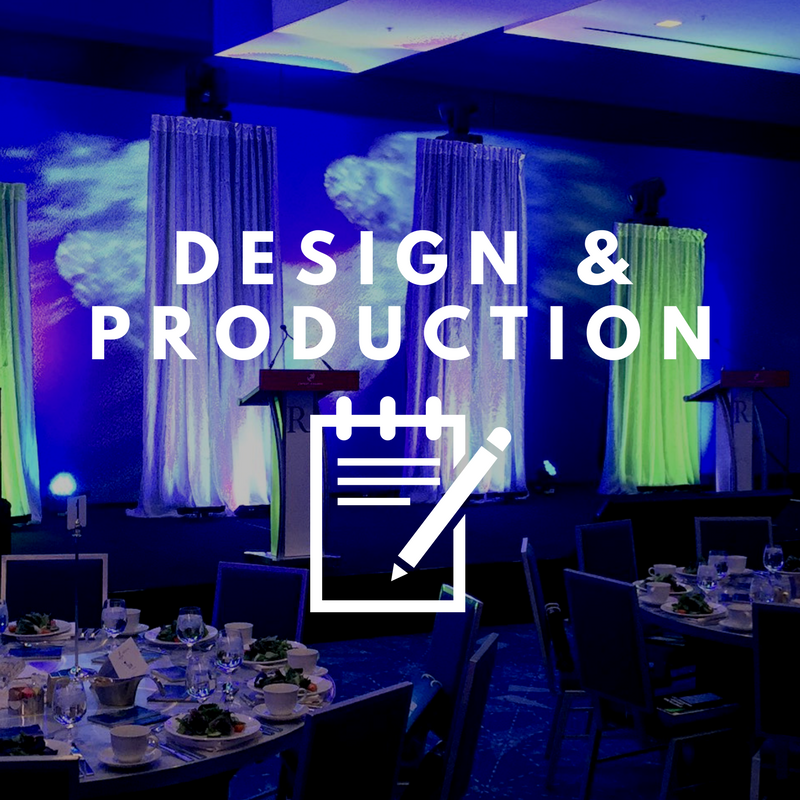 We design and transform spaces using state-of-the-art lighting and AV equipment, special effects, props and bespoke art installations. We will work with you on your event design and production from the first design idea to ensuring everything runs effortless on-site.