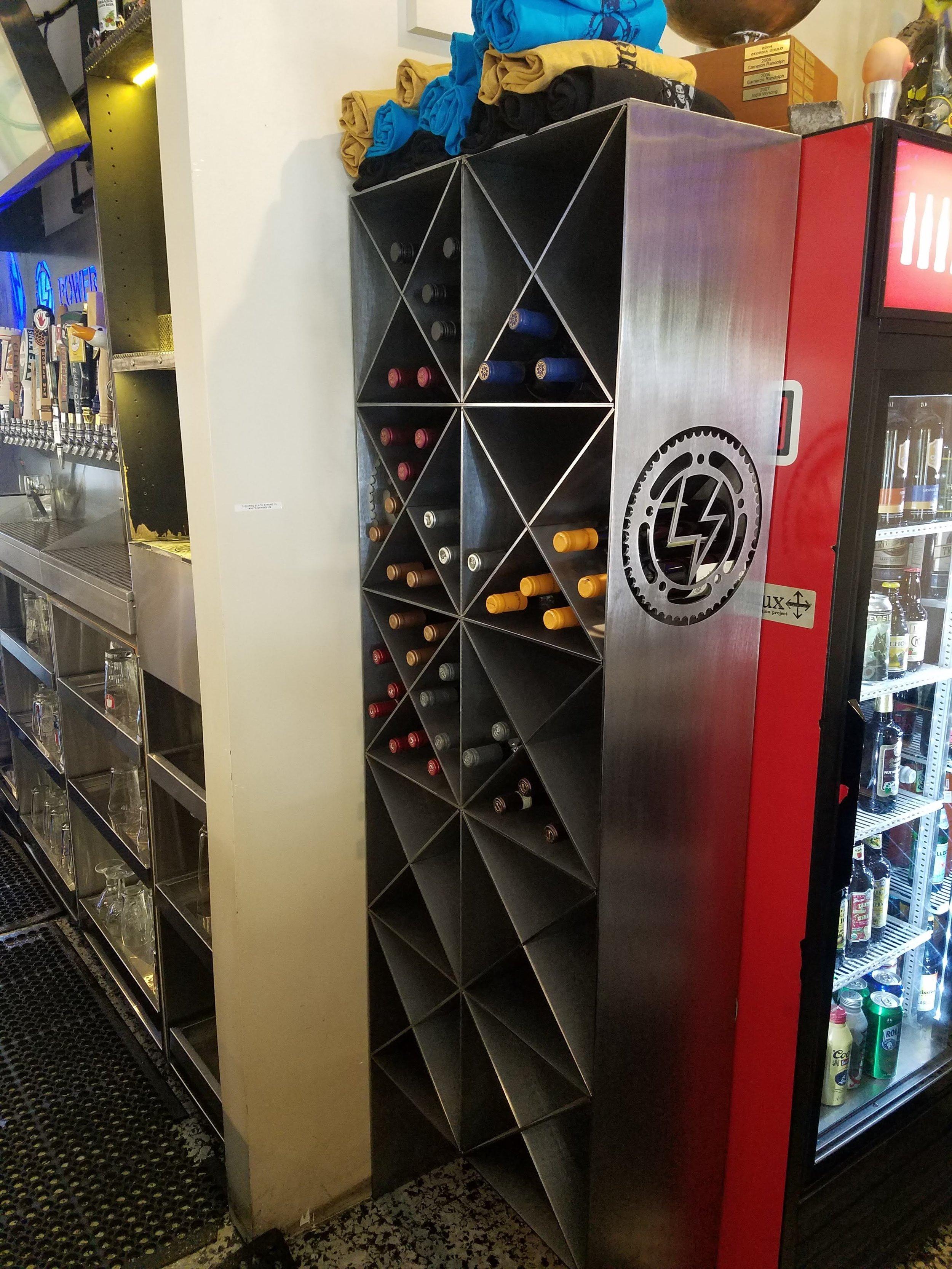 Steel Wine Rack