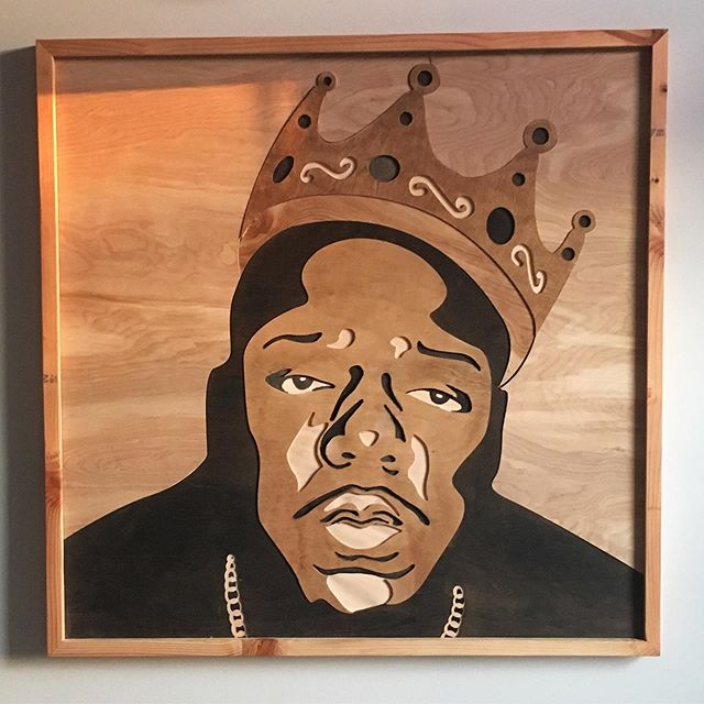 3 foot #wooden #biggiesmalls #portriat #forsale #NameYourPrice . . . . . #graphicdesign #graphic #design #wood #music #oldschool #hiphop #oldschoolhiphop #notoriousbig #icon #iconic #cnccut