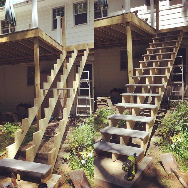 Been stepping things up lately . . . . . #carpentryskills #deck #carpentry #carpenter #build #construction #design