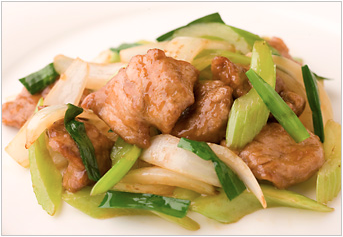 Stir-Fried Mexican Pork And Celery With Oyster Sauce