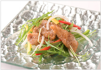 Fried Mexican Pork And Mizuna Salad Tailoring