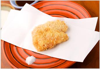 Fried chicken meat bread crumbs
