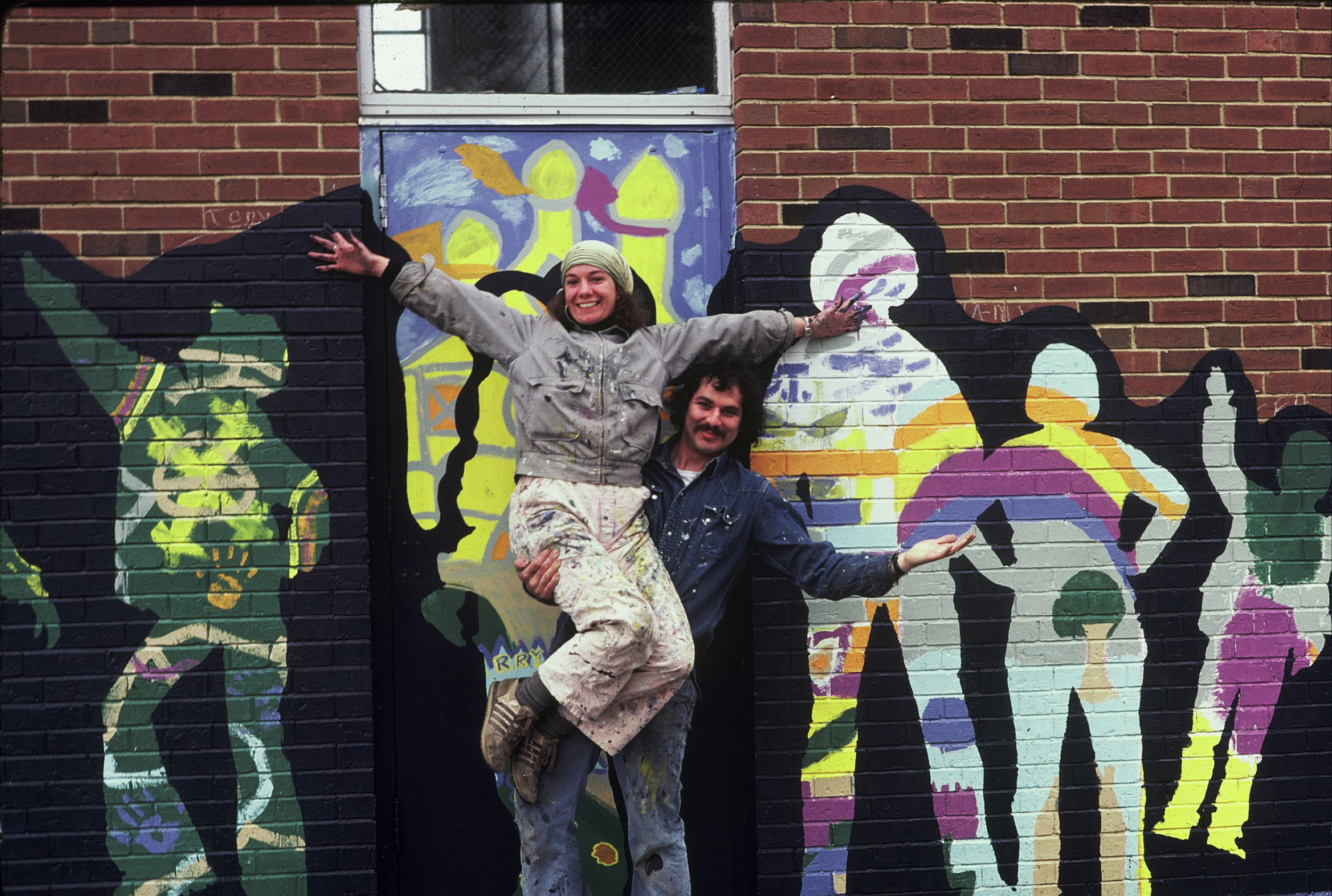 Our history… - Since forming ON THE WALL PRODUCTIONS, INC. in 1974, mural artists Robert Fishbone and Sarah Linquist (1951-2010) made it their ongoing mission to transform anonymous walls into inspiring, meaningful and memorable artworks.