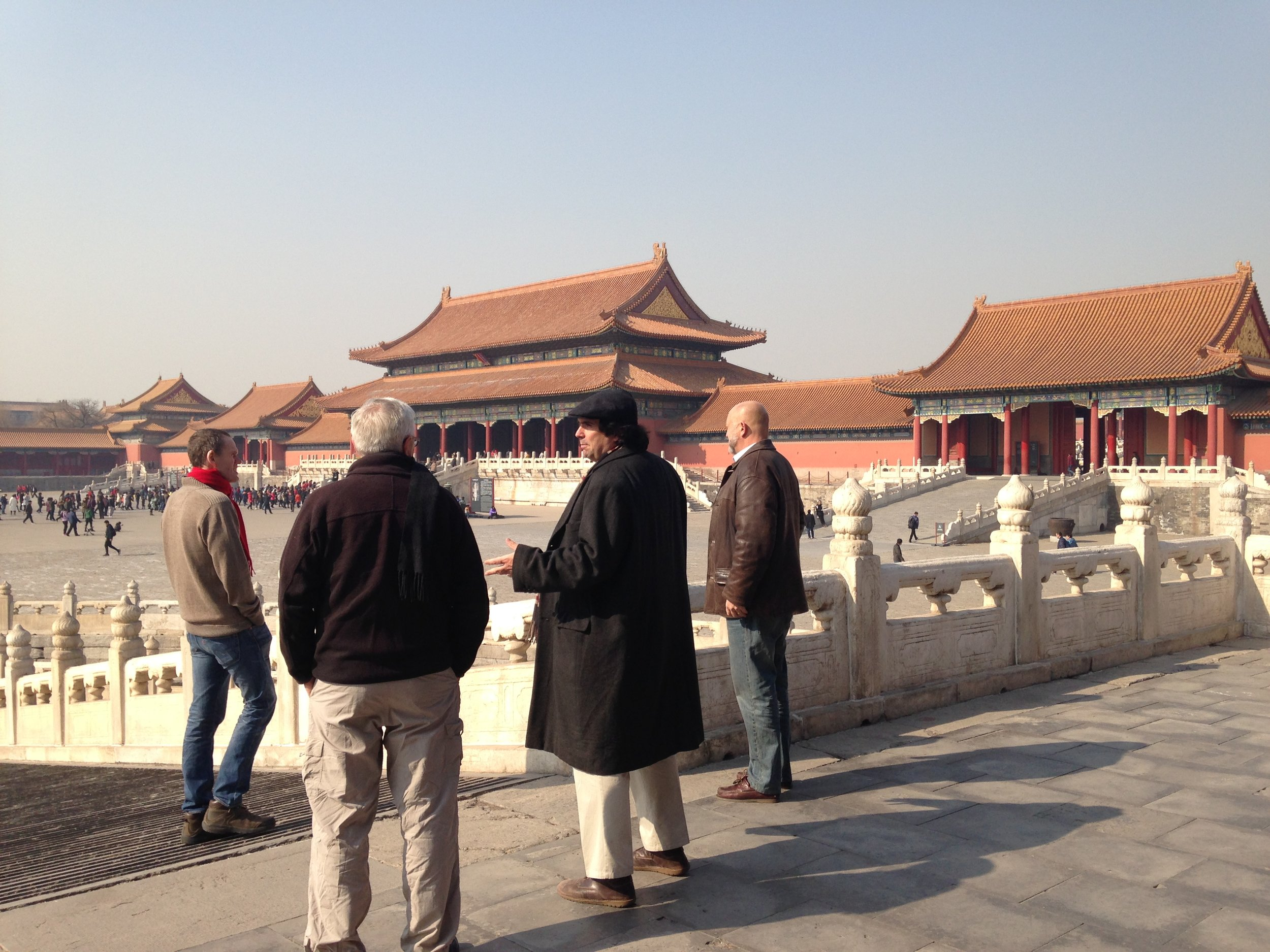Jeremiah leading a private tour at the Forbidden City