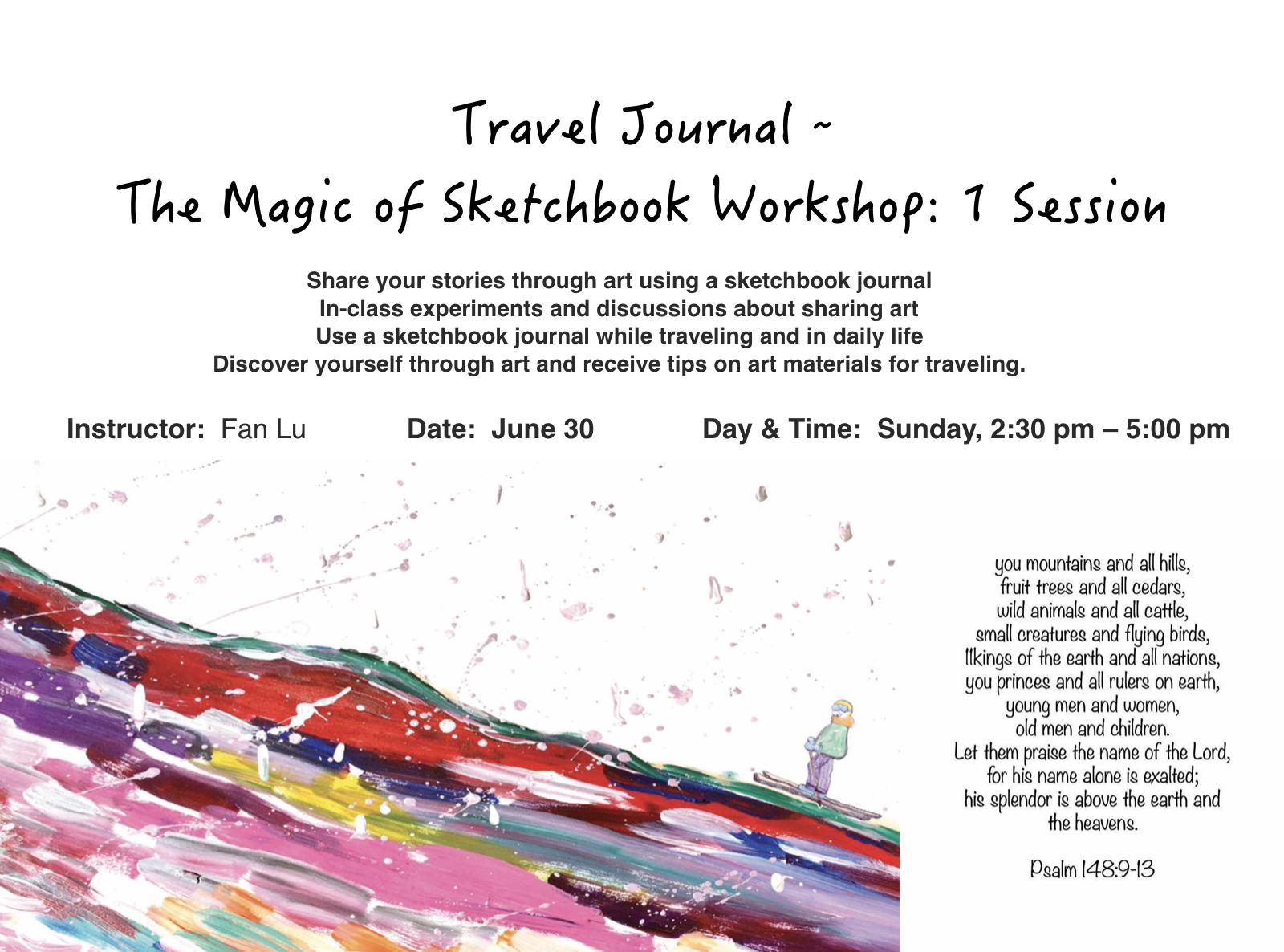 Sketchbook Workshop - Workshop designed and instructed by Fan Lu