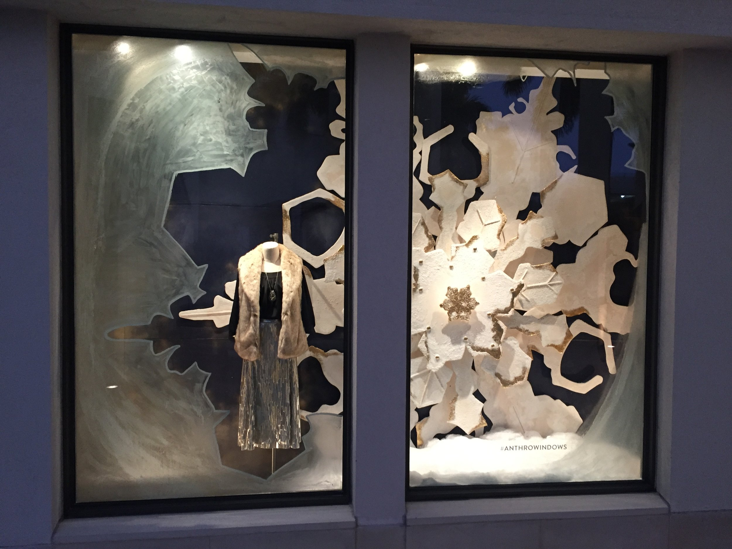 Holiday Window Display 2016 for Anthropologie