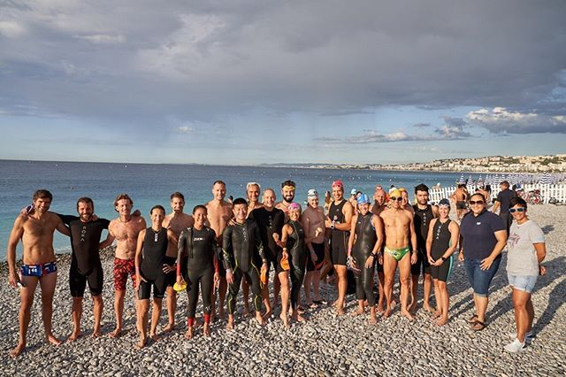 Big turnout in Nice 🇫🇷 for the #ironman703worldchampionship from old and new #Slabbers #tritonshk So great to see so many of you here!  Best of luck to all #hktriathlon 🇭🇰 competitors.  #triathlon #swimfortri #triswimming #ironman703training #im703wc #im703nice