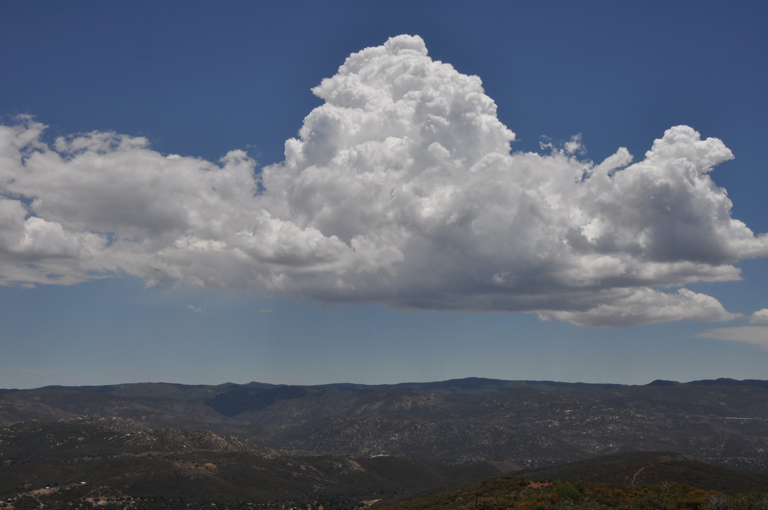 Thunderstorm forming on Mount Laguna to the east