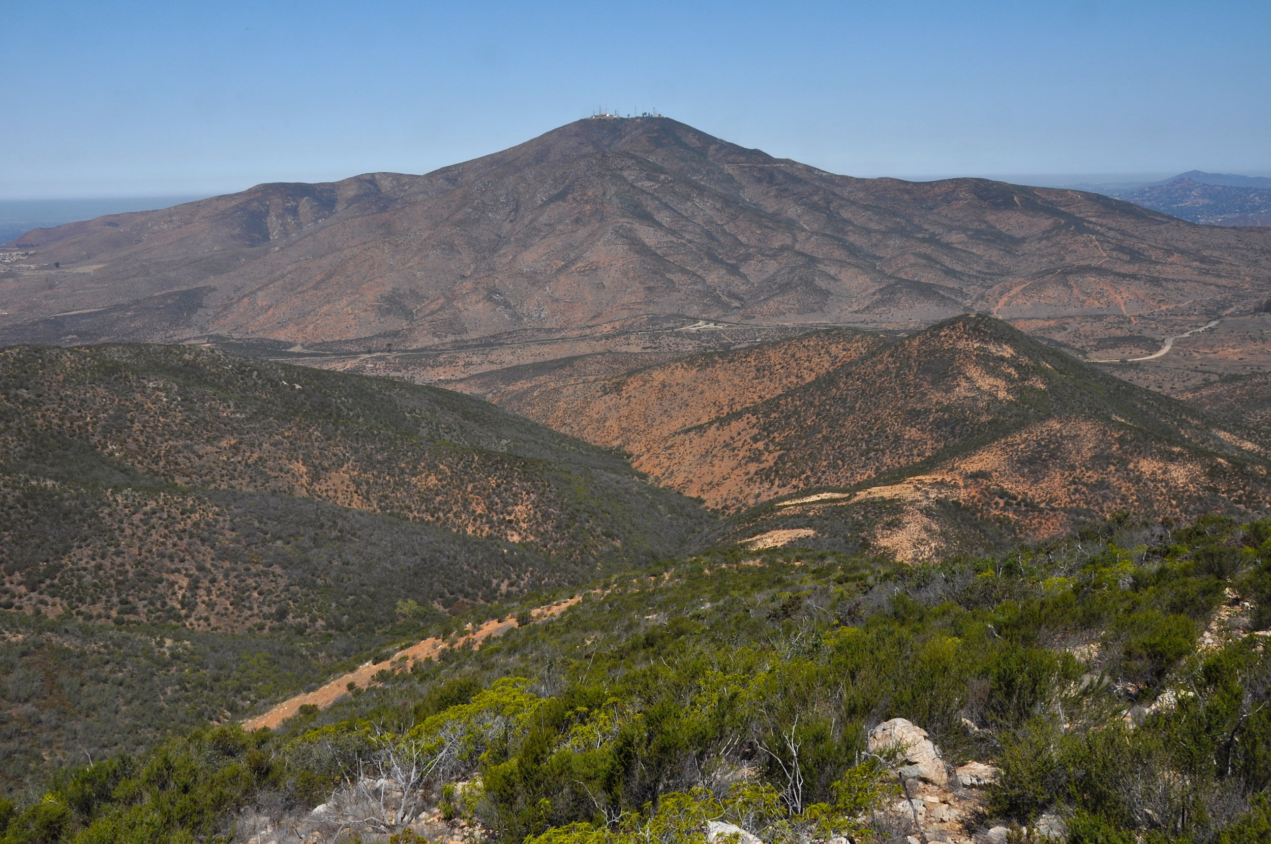 Looking across Proctor Valley at San Miguel Mountain