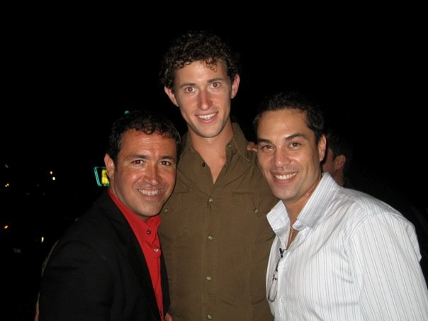 Steve, Carlos and I after a performance of West Side Story.