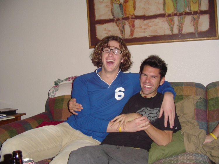 New Year's Eve freshman year of college at my parents house. Tim challenged me to wrestle and I ended up throwing him in a headlock. That was the last of our skirmishes.