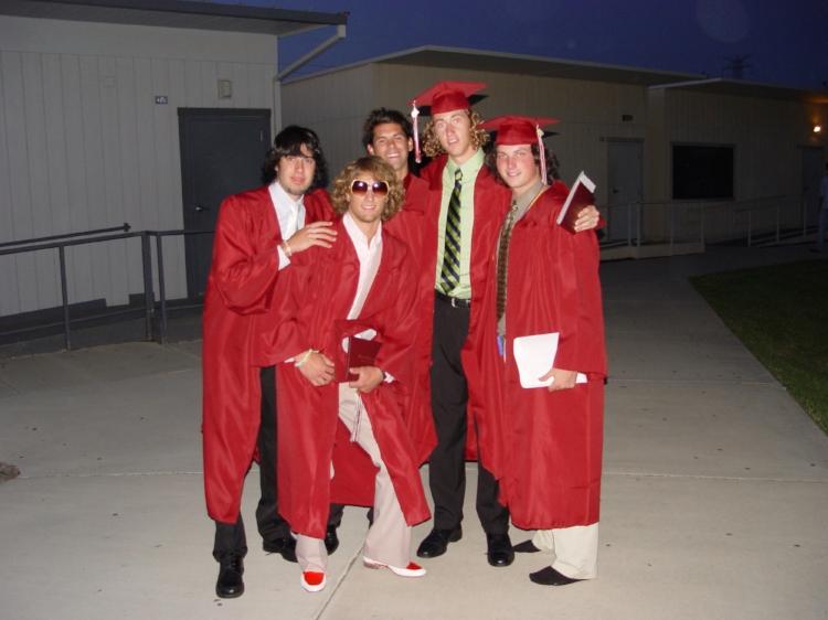 High school graduation with Tim, J-Dawg, Chigity-K, and Taylor.