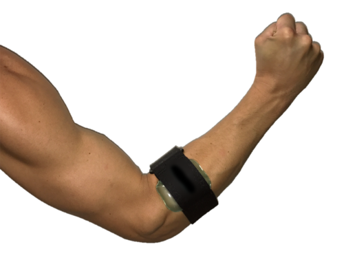 An elbow strap can stabilize the injured tendon, decrease pain, and prevent further injury.