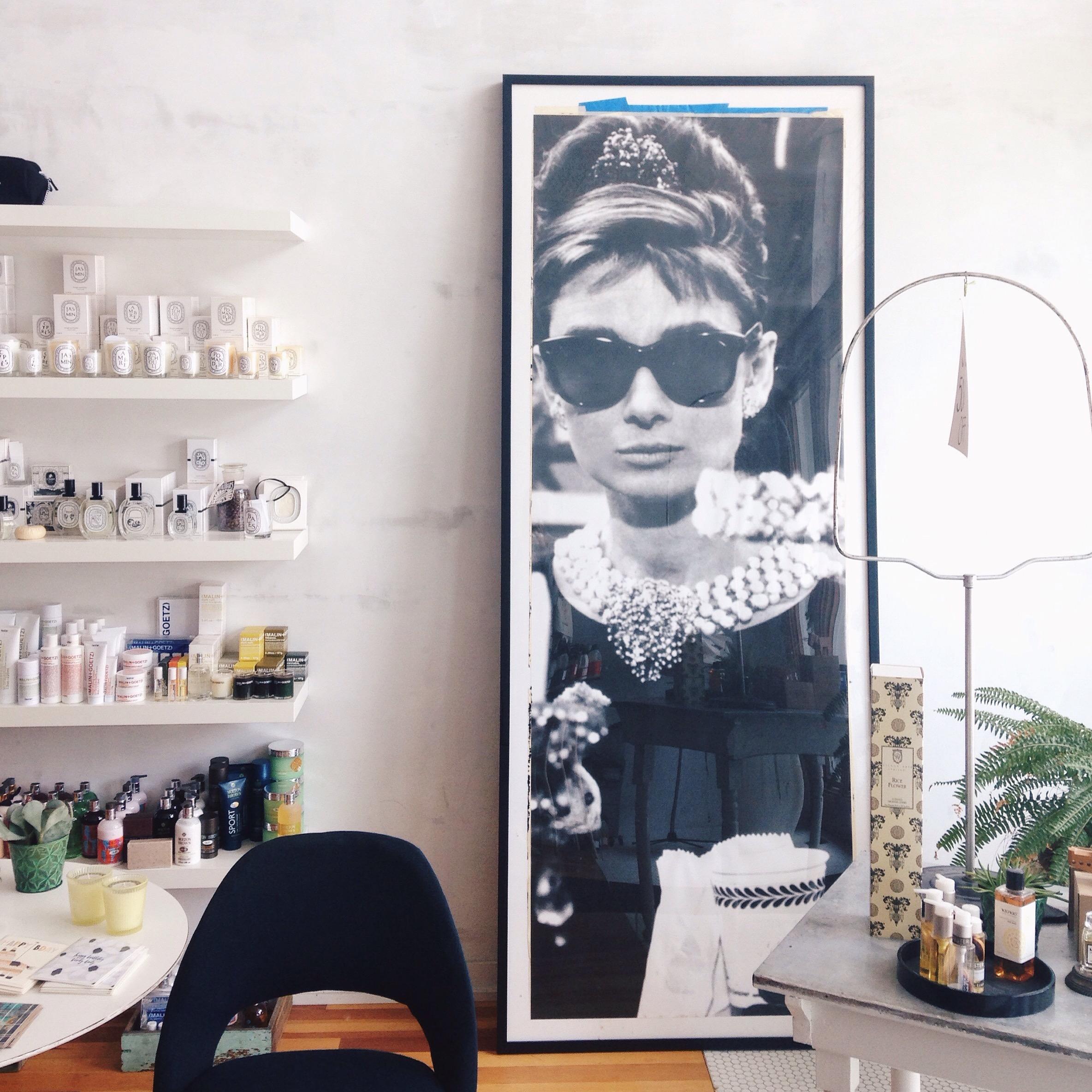 The infamous Audrey Hepburn poster.