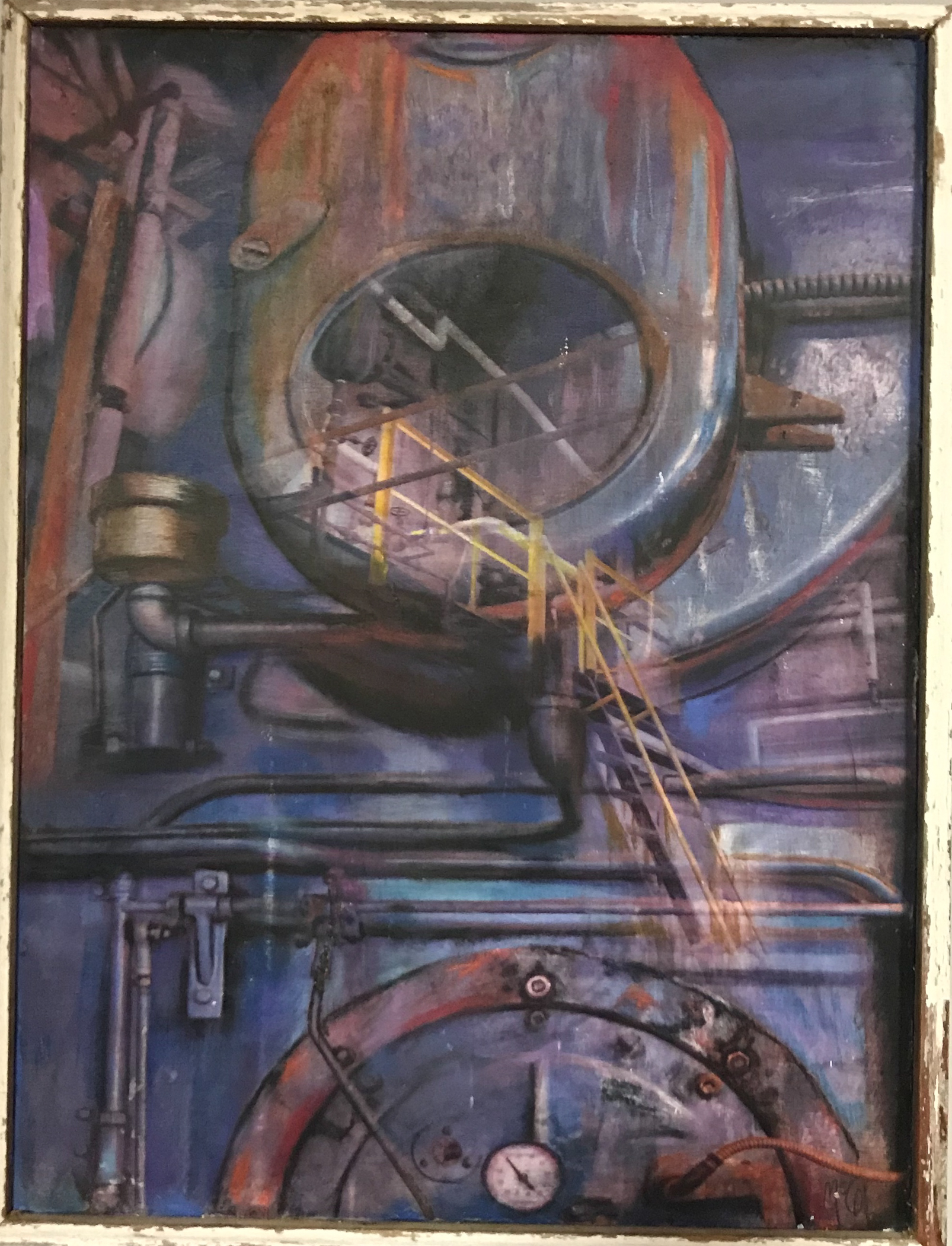"""Time Machine"" | Mixed Media"