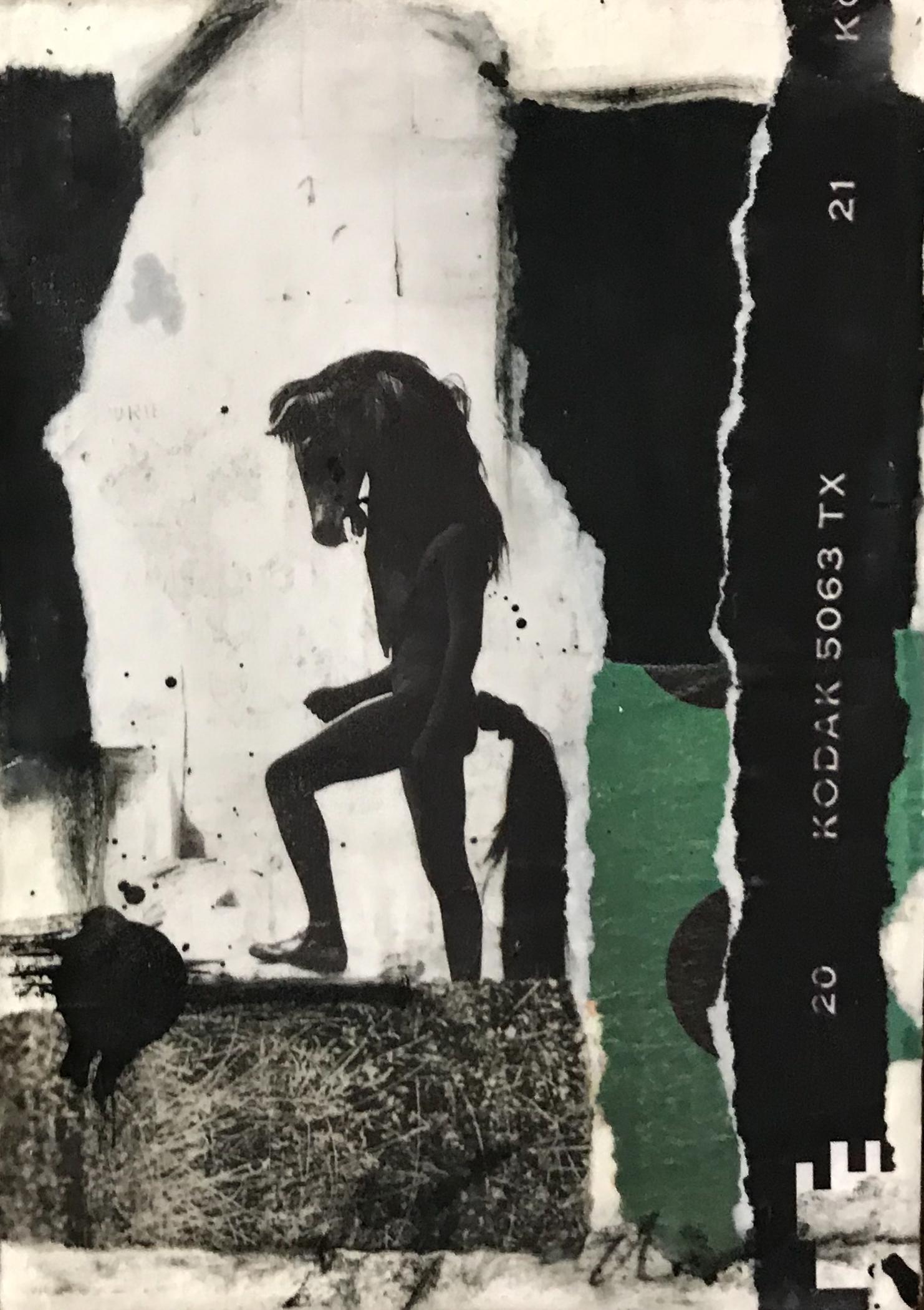 """Dark Thoughts"" | Mixed Media Encaustic"