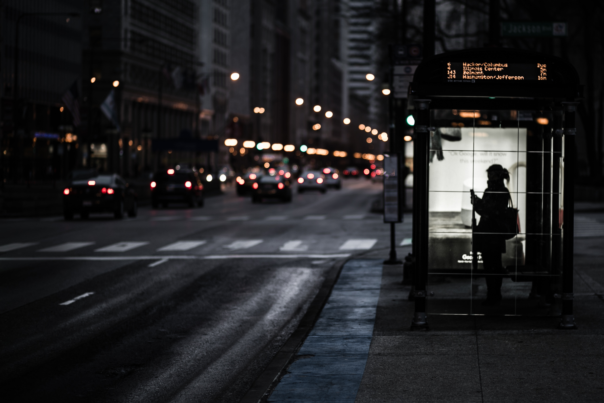 """Standing on the Corner, Waiting for a Bus"""