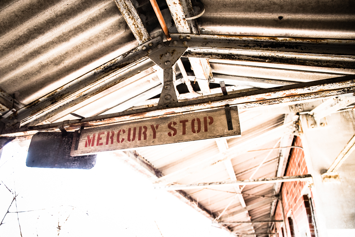 That would be a Mercury Stop. Yes. Mercury. On the train platform.