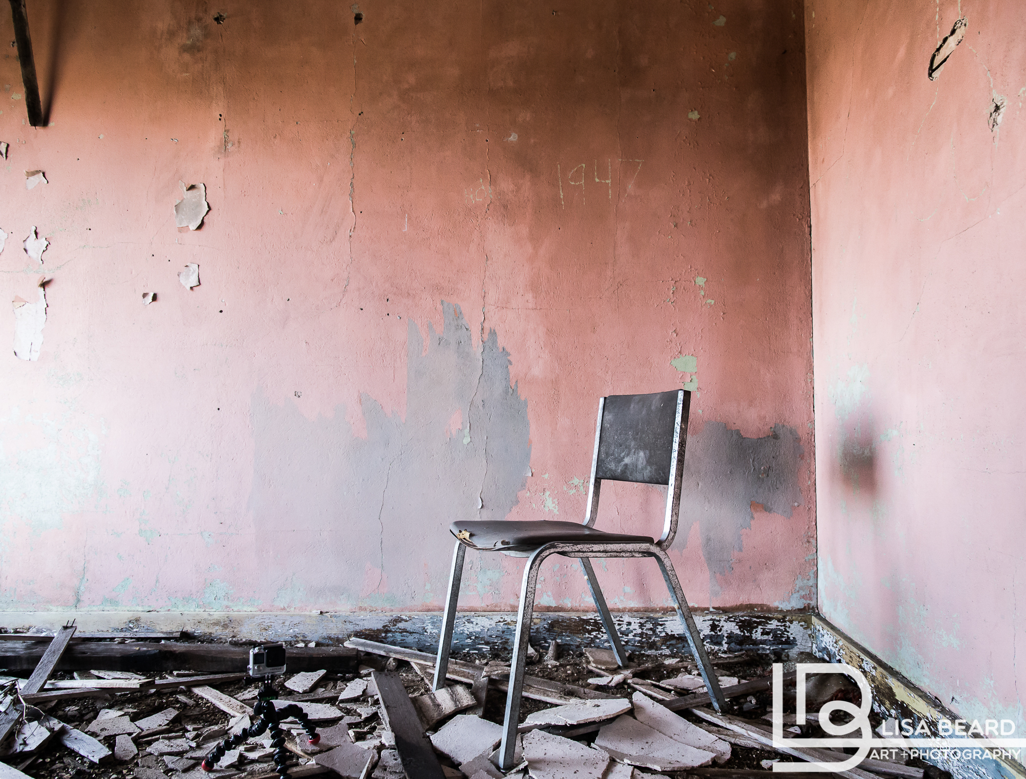 Vignette used for below images. The pink walls, the chair, and the 1947 had me from the start.