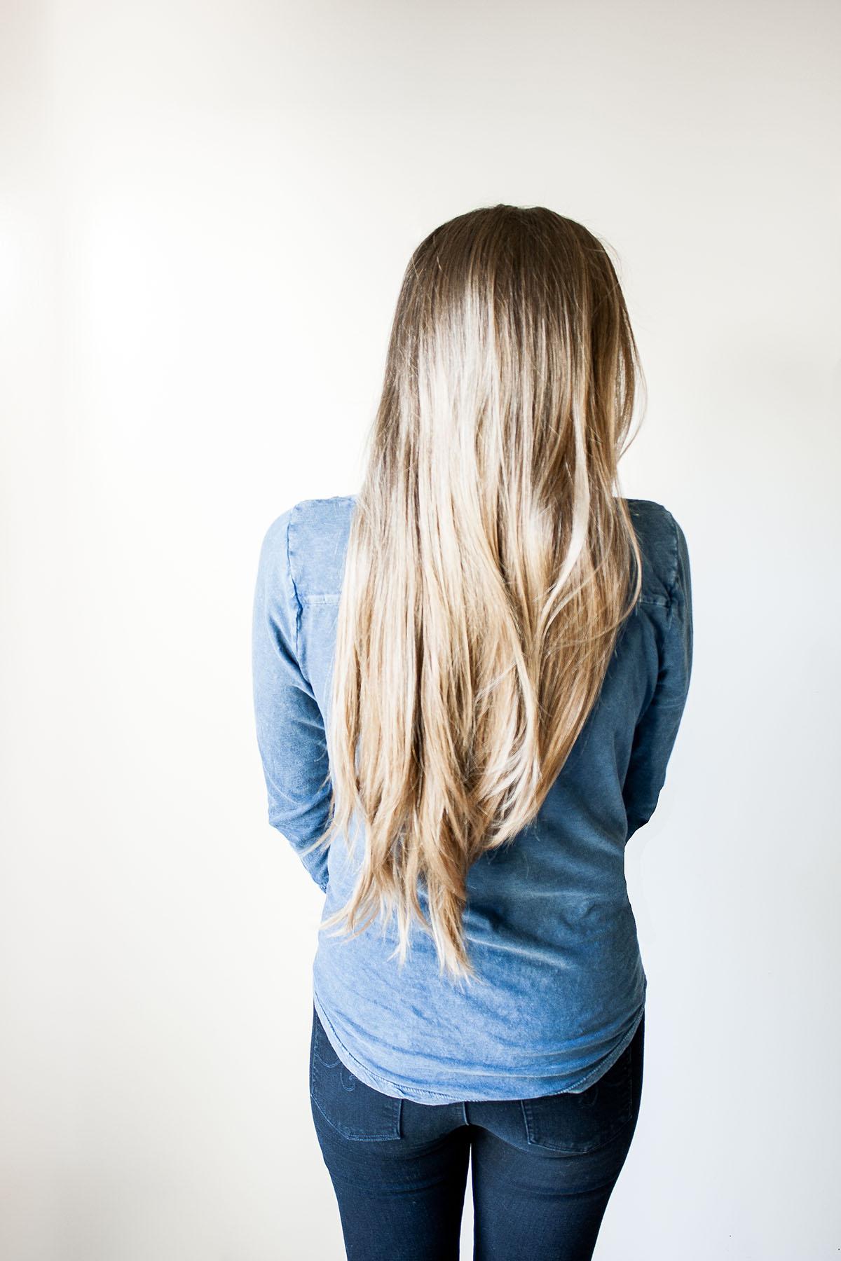 Natural Non-toxic Safe Hair Care for Long Bronde Blonde Brunette Locks