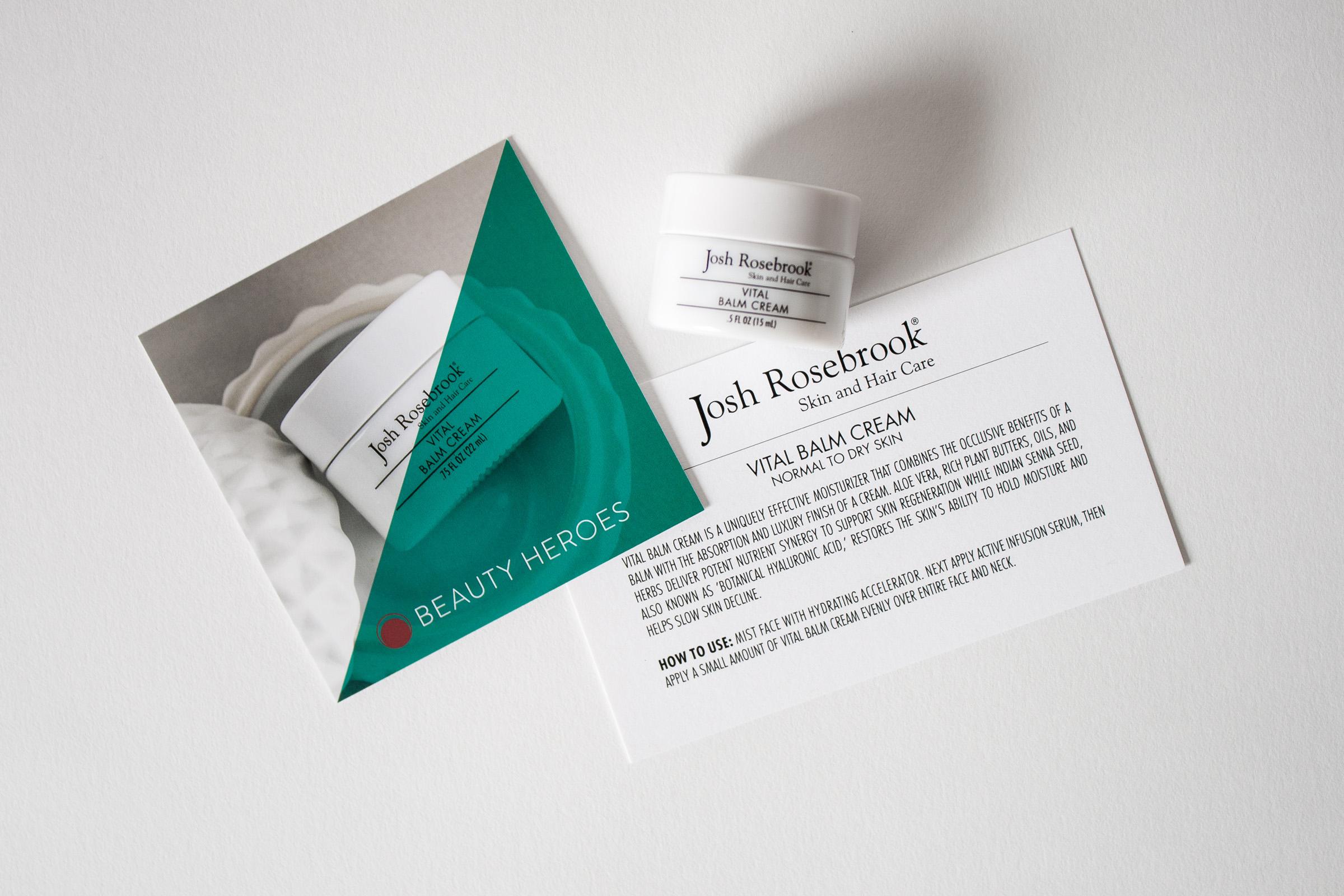 Beauty Heroes Review - July Box - Josh Rosebrook Beauty Vital Balm Cream and Nutrient Day Cream SPF 30