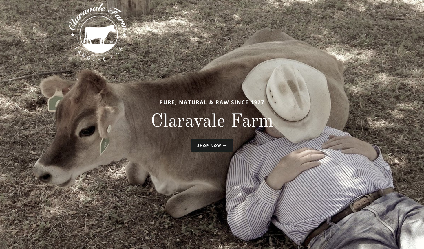 CLARAVALE FARM    Pasture-Raised raw Jersey Cow & Goat Dairy