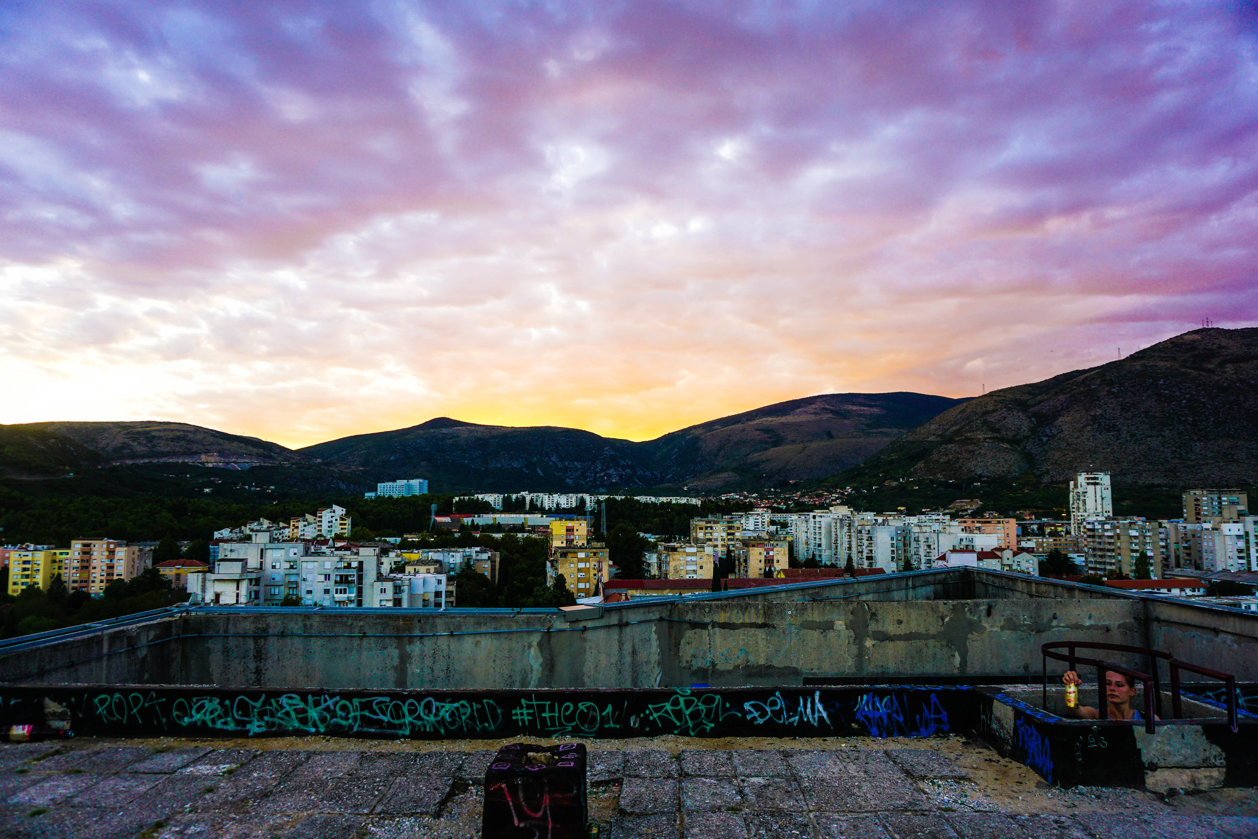 Though it is no longer the tallest building in Mostar, it still provides on of the best 360-degree views of the city and serves as a prime drinking spot for teens and tourist alike.  (This was a photojournal essay entry created for  World Nomad's  photography contest.)  Thanks for reading!  xx  - Steph