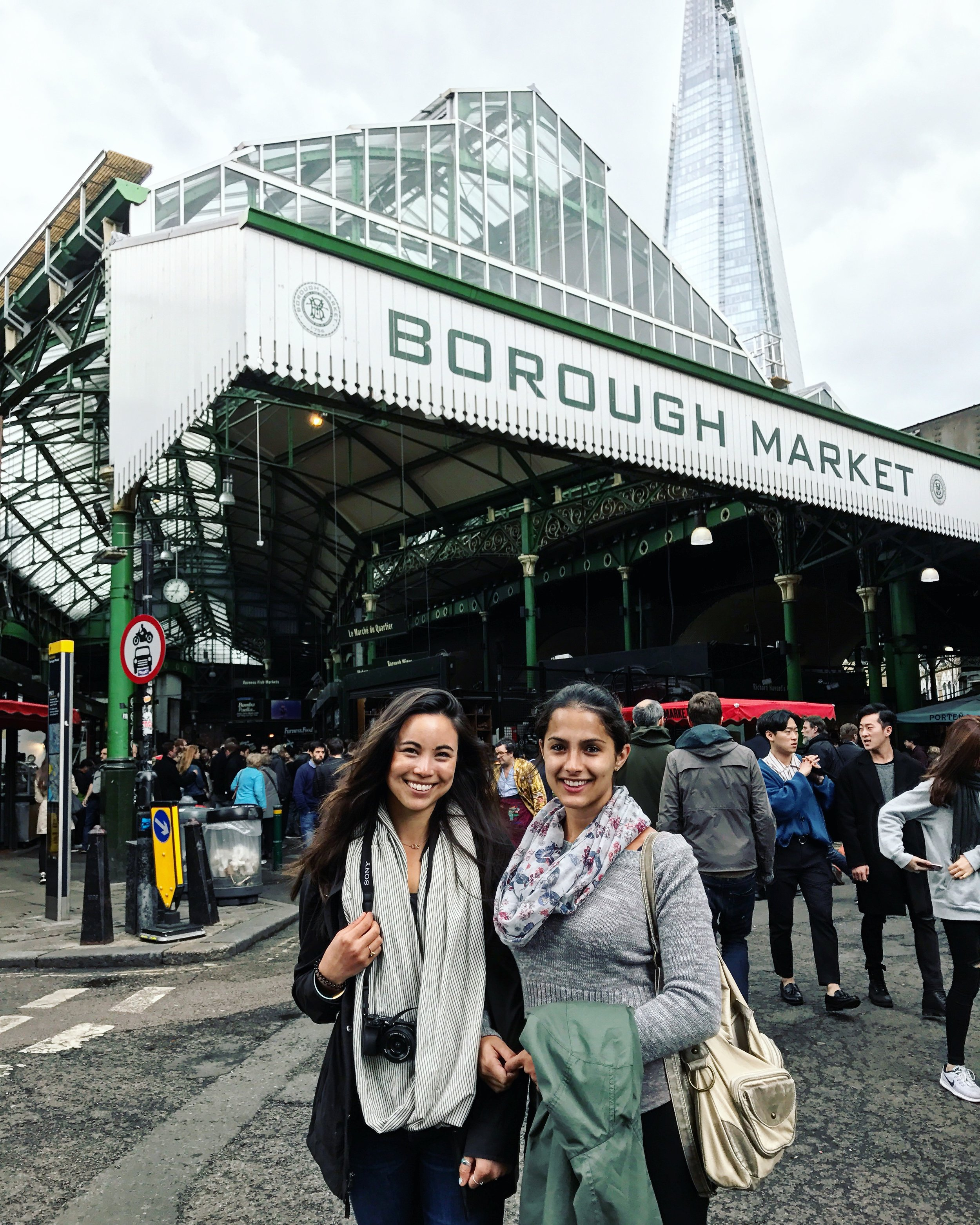 My first Couchsurfing host, Juliana, showing me around London!