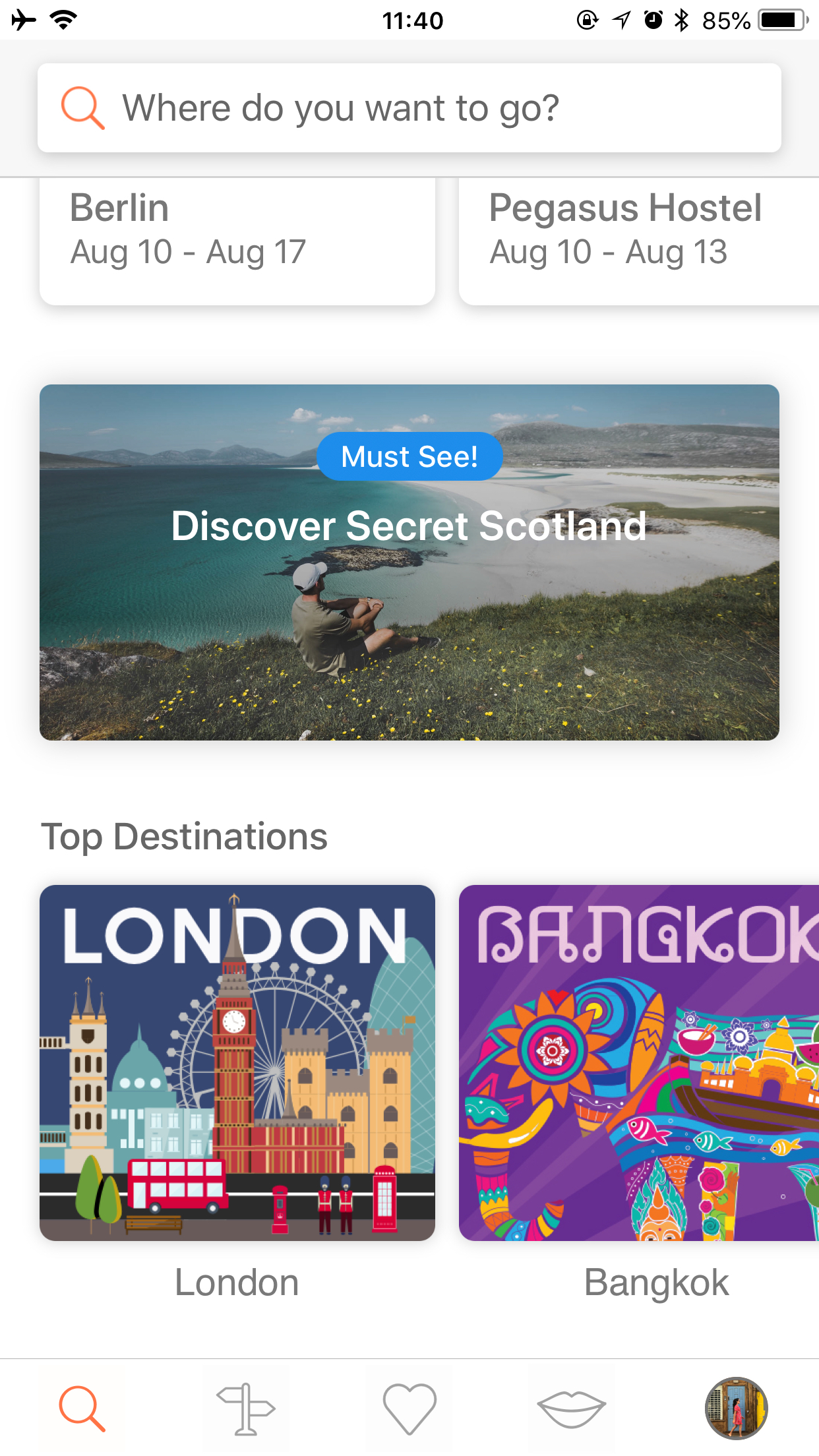 I use the  Hostelworld  app - it's super convenient for quick bookings!