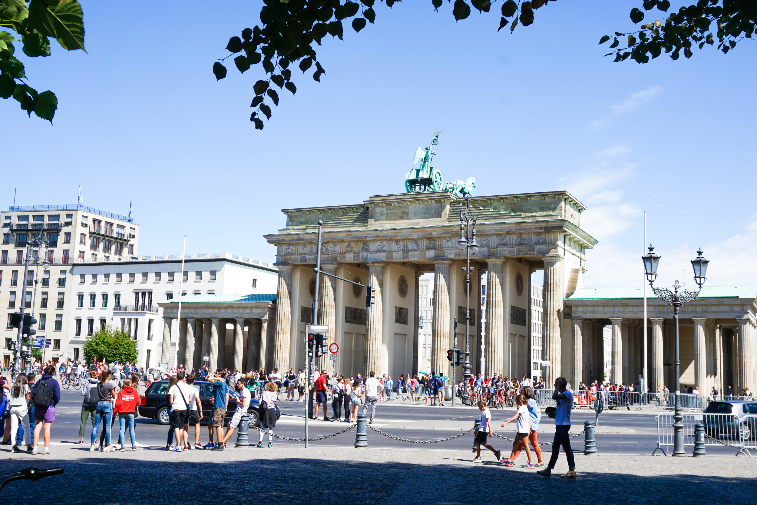 Bradenburg Gate is always a hot spot for hoards of tourists and protestors