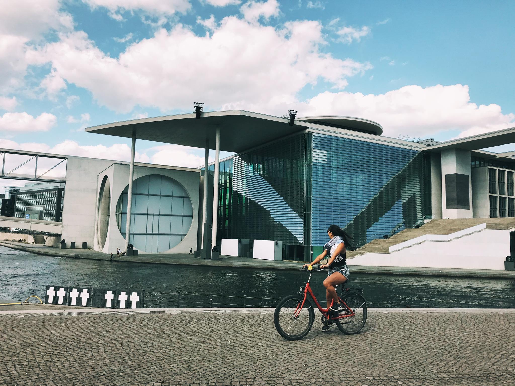 Admiring Berlin's architeture