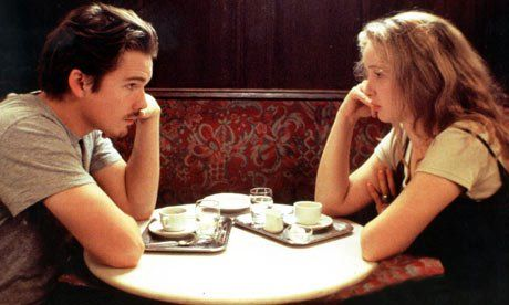 The  famous scene  from Before Sunrise shot at Cafe Sperl