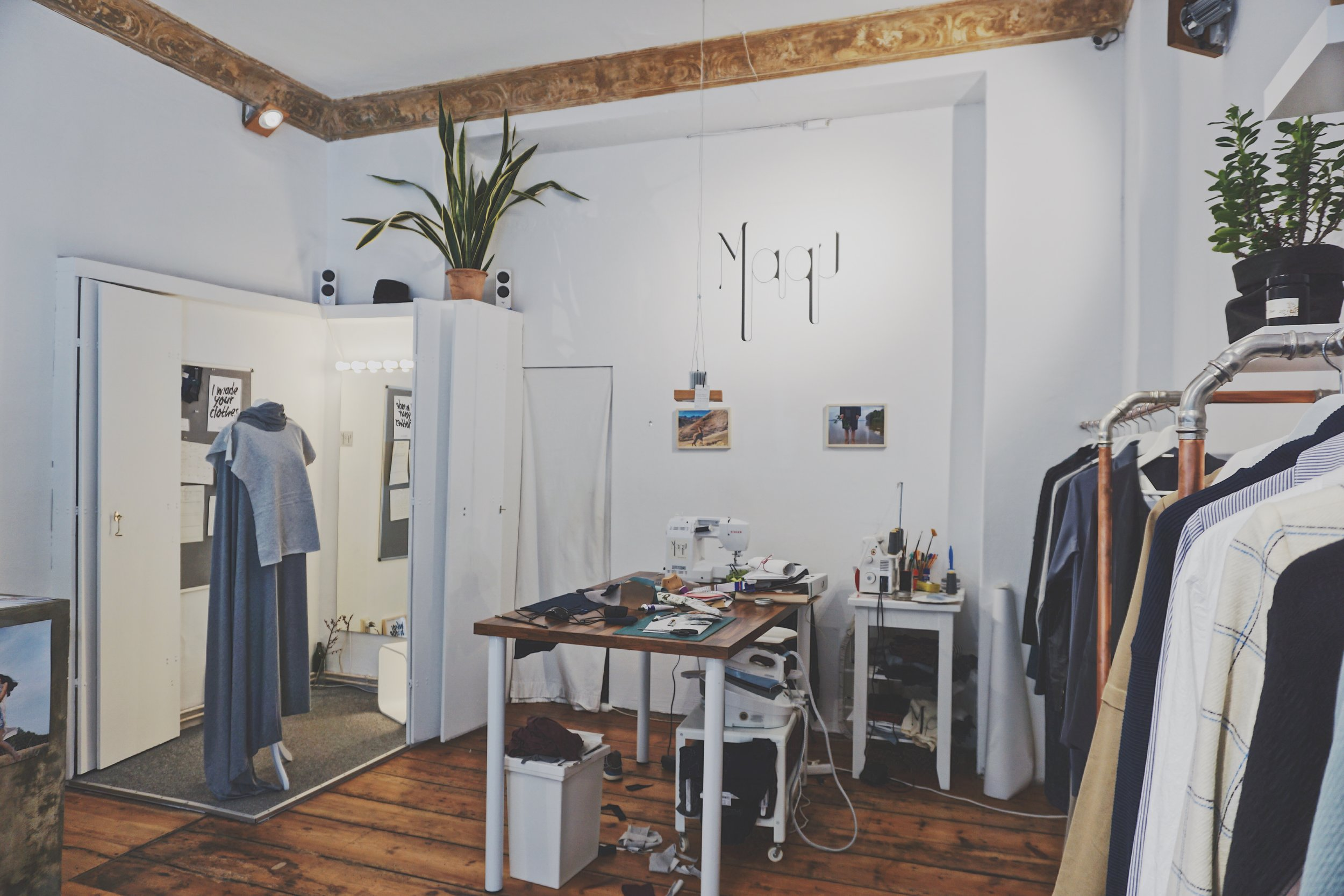 Maqu sustainable fashion boutique and studio in Germany