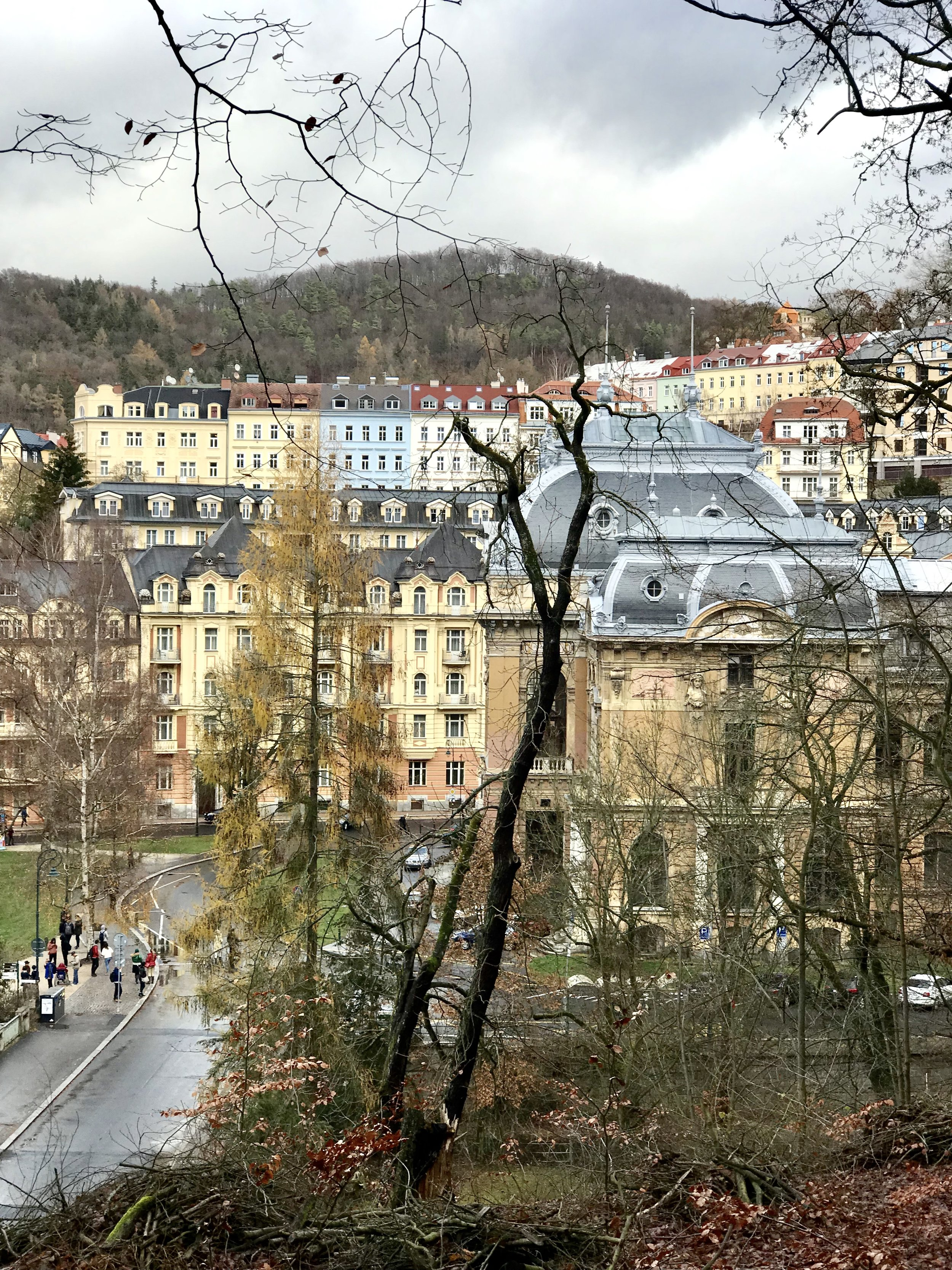 View of Karlovy Vary from one of the hiking trails - taken from iPhone 7+