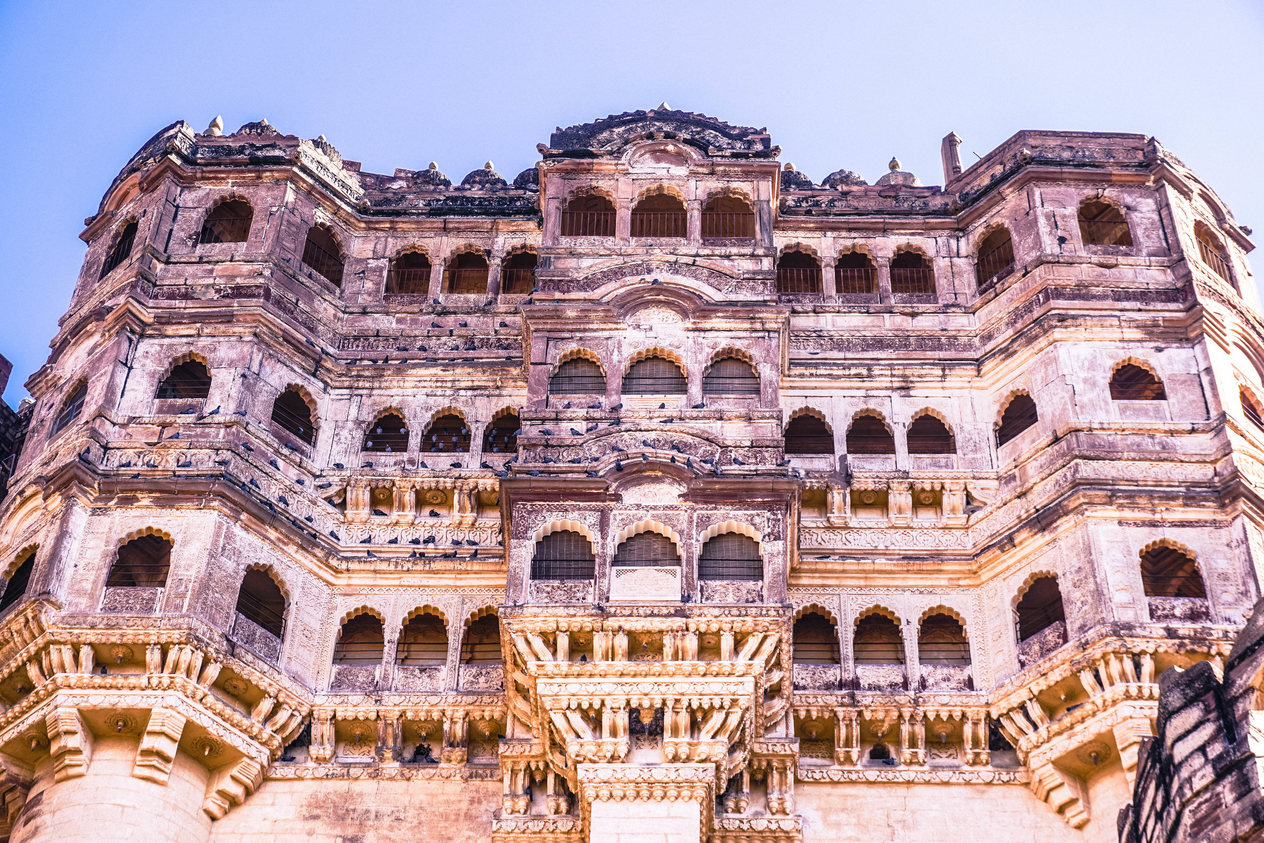 Mehrangarh Fort has such incredible details (photo edited)