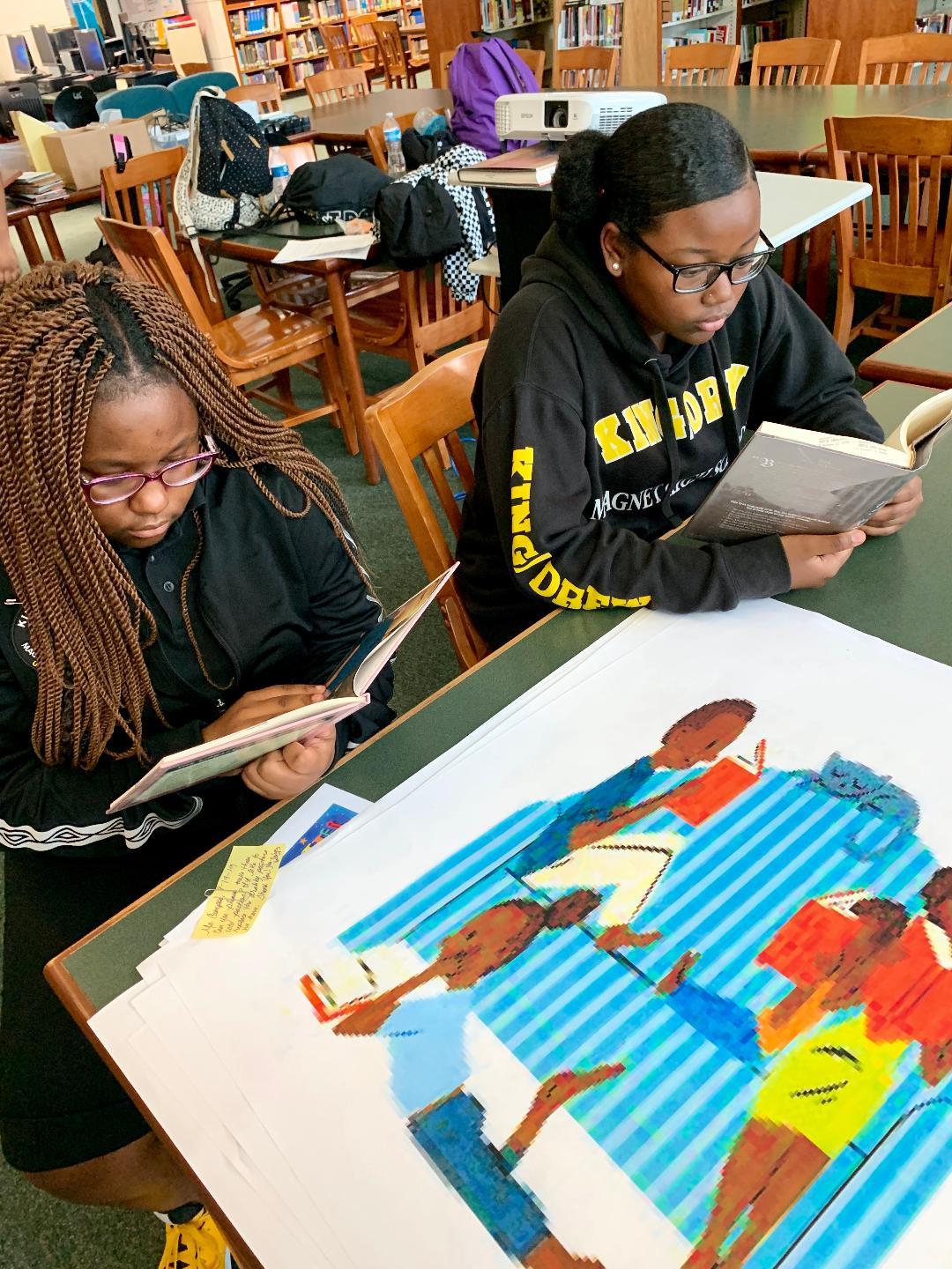 #BLACKGIRLSREAD : Two of our King Drew students reading black literature.