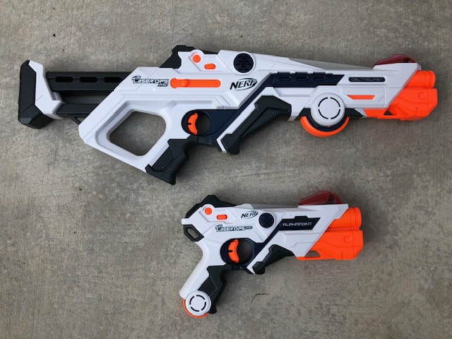 We offer Laser Tag - If you are looking for the latest in Laser Tag, Nerf has come out with Laser Pro Ops Alphapoint and Laser Pro Deltaburst. A fun and exciting way to Battle without shooting Nerf darts or worrying about reloading quickly. Nerf Laser Pro Ops works awesome during the day or at night! They fire a single-shot IR beam up to 225 feet.Learn More